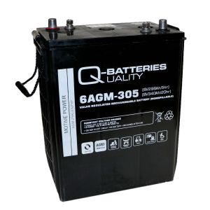 Q-Batteries 6AGM-305 Traktionsbatterie 6V 296Ah (5h) 340Ah(20h) wartungsfreier AGM-Akku VRLA