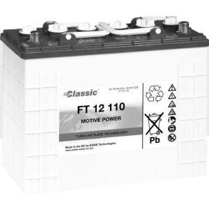 Exide Classic FT 12 110 Antriebsbatterie 12 Volt 110 Ah (5h) PzS-Platten