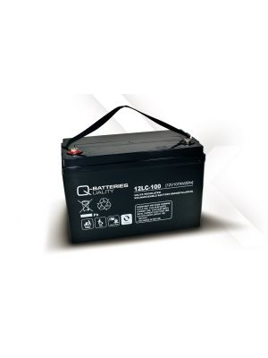 Q-Batteries AGM Batterie 12Volt 107Ah Zyklentyp 12LC-100 Deep Cycle VRLA
