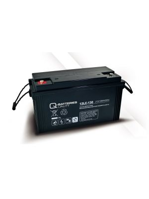 Q-Batteries AGM Batterie 12Volt 128Ah Zyklentyp 12LC-130 Deep Cycle VRLA