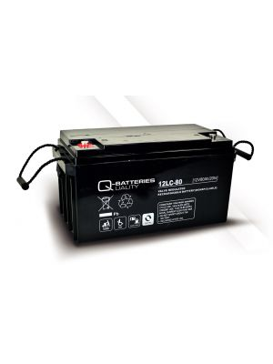 Q-Batteries AGM Batterie 12Volt 80Ah Zyklentyp 12LC-80 Deep Cycle VRLA