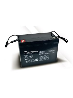 Q-Batteries AGM Batterie 12Volt 93Ah Zyklentyp 12LC-92 Deep Cycle VRLA