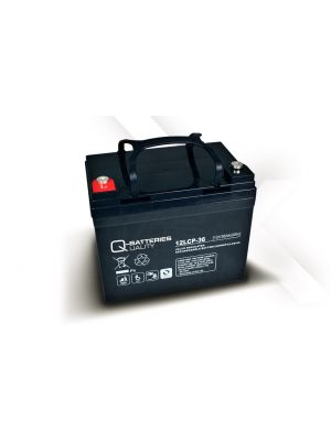 Q-Batteries AGM Batterie 12Volt 36Ah Zyklentyp 12LCP-36 Deep Cycle VRLA