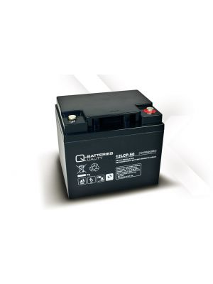 Q-Batteries AGM Batterie 12Volt 50Ah Zyklentyp 12LCP-50 Deep Cycle VRLA