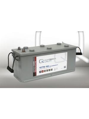 Q-Batteries 12TTB-165 Antriebsbatterie mit Panzerplatte 12 Volt 165Ah