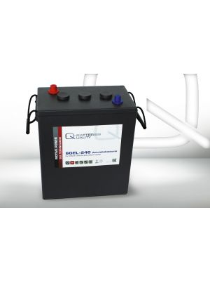 Q-Batteries 6GEL-240 Antriebsbatterie 6 Volt 240 Ah (5H) / Blei-Gel-Akku