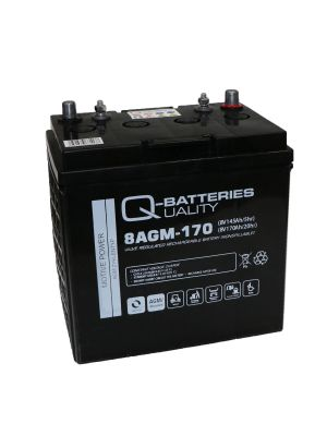 Q-Batteries 8AGM-170 Traktionsbatterie 8V 145Ah (5h) 170Ah (20h), wartungsfreier AGM-Akku VRLA