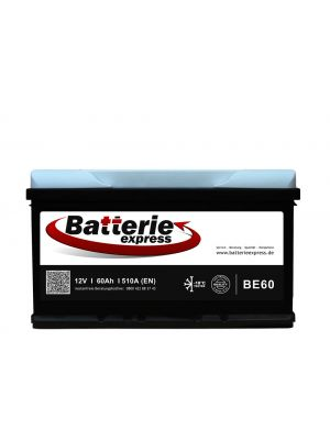 Batterieexpress Batterie BE60 12V 60Ah 510A (DIN Type 56077)