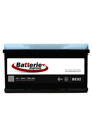 Batterieexpress Batterie BE92 12V 92Ah 760A (DIN Type 59227)