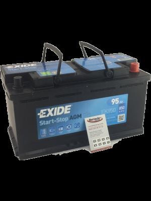 EXIDE EK950 Start-Stop Batterie AGM 12V 95Ah 950A