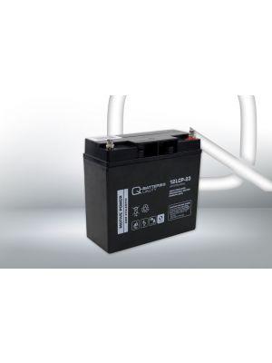 Q-Batteries AGM Batterie 12Volt 23Ah Zyklentyp 12LCP-23 Deep Cycle VRLA Schraubanschluss