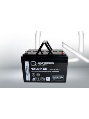 Q-Batteries AGM Batterie 12Volt 63Ah Zyklentyp 12LCP-60 Deep Cycle VRLA