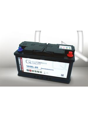 Q-Batteries 12GEL-65 Antriebsbatterie 12 Volt 65 Ah (5H) / Blei-Gel-Akku