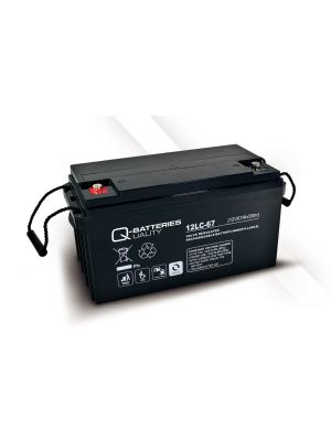 Q-Batteries AGM Batterie 12Volt 67Ah Zyklentyp 12LC-67 Deep Cycle VRLA