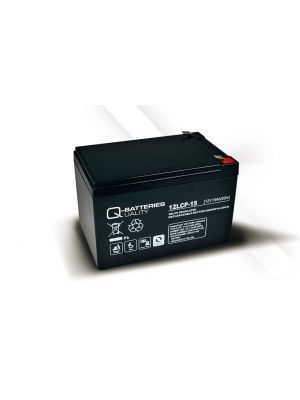 Q-Batteries AGM Batterie 12Volt 15Ah Zyklentyp 12LCP-15 Deep Cycle VRLA