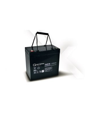 Q-Batteries AGM Batterie 12Volt 56Ah Zyklentyp 12LCP-56 Deep Cycle VRLA