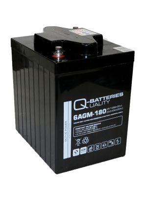 Q-Batteries 6AGM-180 Traktionsbatterie 6V 198Ah (5h) 245Ah (20h) wartungsfreier AGM-Akku VRLA