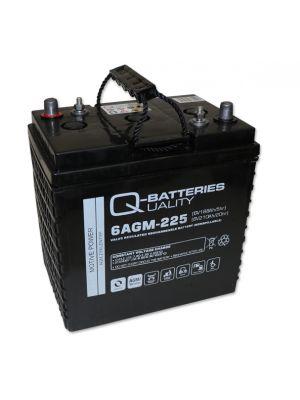 Q-Batteries 6AGM-225 Traktionsbatterie 6V 188Ah (5h) 210Ah (20h), wartungsfreier AGM-Akku VRLA