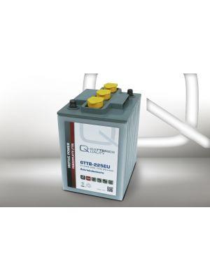 Q-Batteries 6TTB-225EU 6V 225Ah (C20) geschlossene Blockbatterie, positive Röhrchenplatte