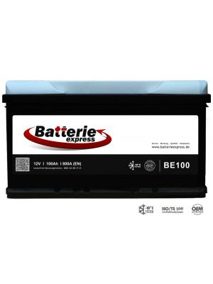 Batterieexpress Batterie BE100 12V 100Ah 800A (DIN Type 60038)