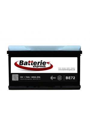 Batterieexpress Batterie BE72 12V 72Ah 540A (DIN Type 57029)
