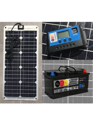SUNBEAM SolarSet 12V 30W 120Ah (c100) Solaranlage MPPT