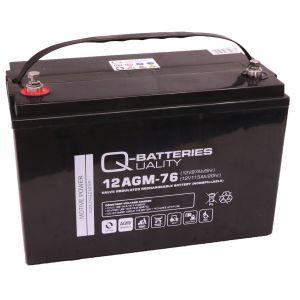 Q-Batteries 12AGM-76 Traktionsbatterie 12V 97Ah (5h) 115Ah (20h), wartungsfreier AGM-Akku VRLA