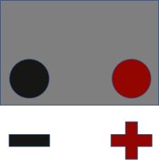 Batterieschaltung: 0 - Pluspol Rechts